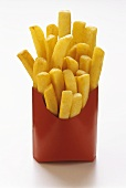 Pommes frites in roter Fast-Food-Box