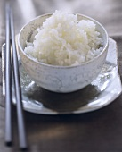 A Dish of Cooked White Rice