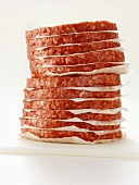 A Stack of Uncooked Hamburger Patties