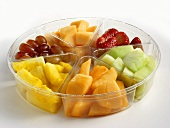 A Fruit Platter in a Divided Tray