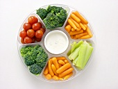 A Vegetable Platter with Dip