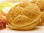 A Sesame Seed Hamburger Bun