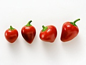Four Red Cherry Peppers