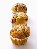 Three Muffins: Lemon Poppyseed, Blueberry and Chocolate Chip