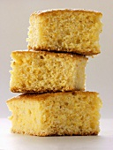 Three Pieces of Corn Bread