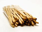 Fresh Bread Sticks in Plastic Bag