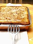 Pan of Lasagna with Spatula