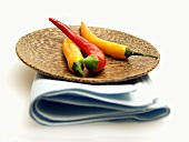 Chili Peppers on a Dish