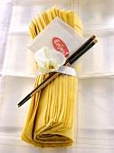 Wrapped Napkin with Chopstick