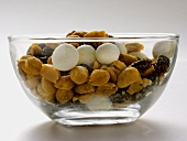 Trail Mix in a Glass Bowl