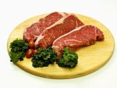 Three Top Loin Steaks