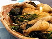 Roasted Chicken Pieces with Rosemary