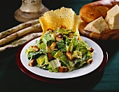 Caesar Salad with Parmesan Crisp