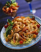 Shrimp and Cherry Tomato Pasta