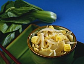 Small Bowl of Asian Bean Sprout, Bamboo and Corn Salad