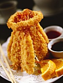 Crispy Fried Shrimp Bundled with an Onion Ring
