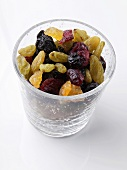 Glass of Mixed Dried Fruit