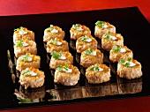 Platter of Salmon Tartare Appetizers