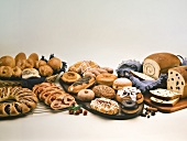 Variety of Baked Goods and Pastries