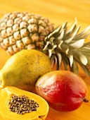 Exotic Fruit; Pineapple, Papaya and Mango