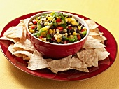 Corn and Black Bean Salsa with Tortilla Chips
