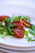 Dried tomatoes with rocket