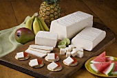Blanco Cheese with Crackers and Watermelon