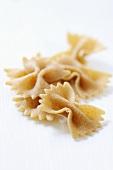 Wholemeal farfalle pasta
