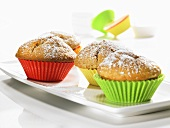 Rice pudding muffins with cinnamon