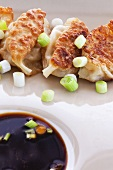 Shrimp Potstickers with Green Onion and Ponzu Dipping Sauce