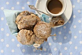 Almond biscuits with espresso