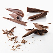 Slivered chocolate (dark chocolate and milk chocolate)