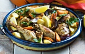 Oven-baked lemon chicken with carrots