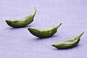 Three green chillies