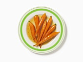 Plate of Glazed Baby Carrots
