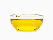 Bowl of Oil; White Background