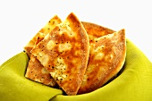Pizza bread with garlic and thyme