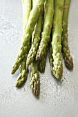 Freshly washed green asparagus