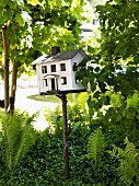 Bird house in the garden