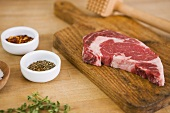 Steak with Tenderizer and Spices