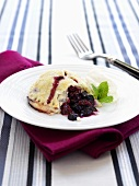 Sweet pastry with berry filling