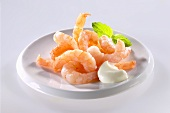 Jumbo shrimp with dip
