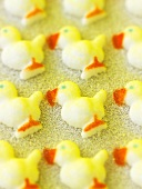 Sugar chicks for decorating cakes
