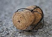 A champagne cork (close-up)