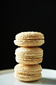 Three Coconut Macaroons; Stacked
