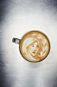 Latte Art; Image of a Girl