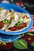 Plate of Fried Fish Tacos