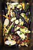 Seasoned Mixed Vegetables Ready to be Fire Roasted
