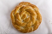 Round Braided Pastry; From Above