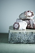 Raw Oxtail Pieces on Stone